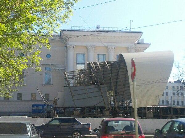 Демонтаж сцены (фото: vk.com/etotkirov)