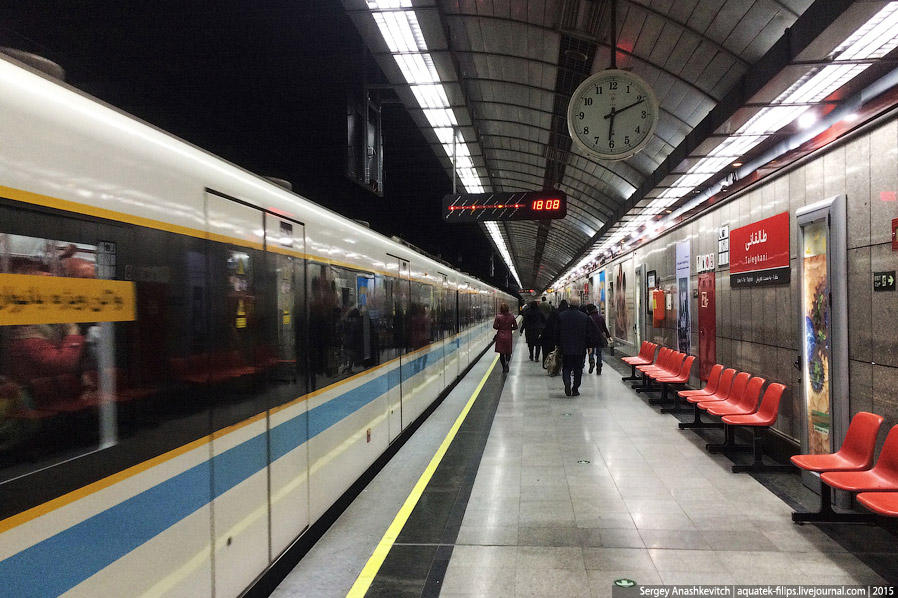 24. Поезда в тегеранском метро современные, с кондиционером в каждом вагоне. Последние два вагона в