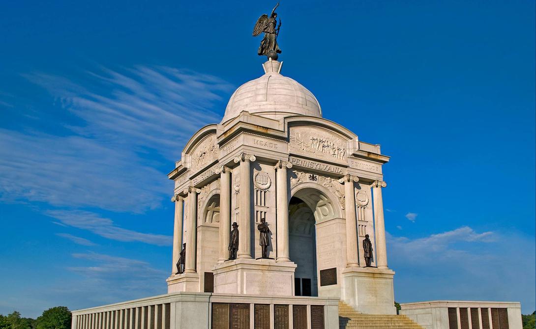 Военный парковый мемориал посвящен самой кровопролитной и жесткой битве гражданской войны в США — им