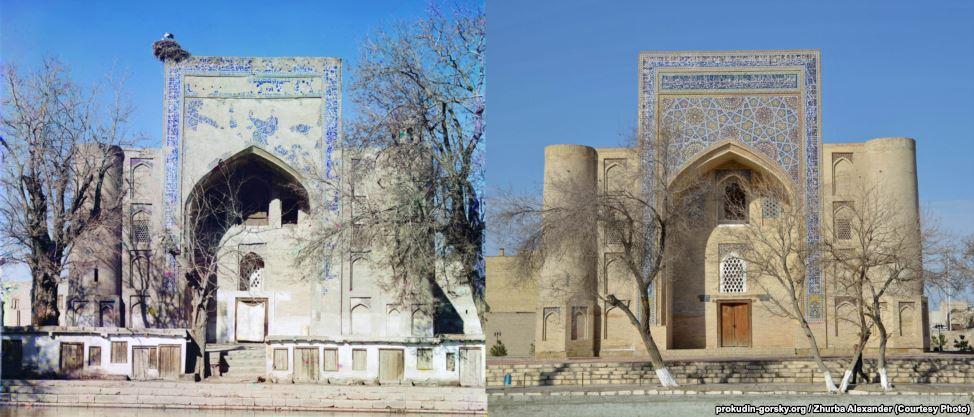 Медресе в Бухаре, Узбекистан. 1911/2014. Фото: Александр Журба.