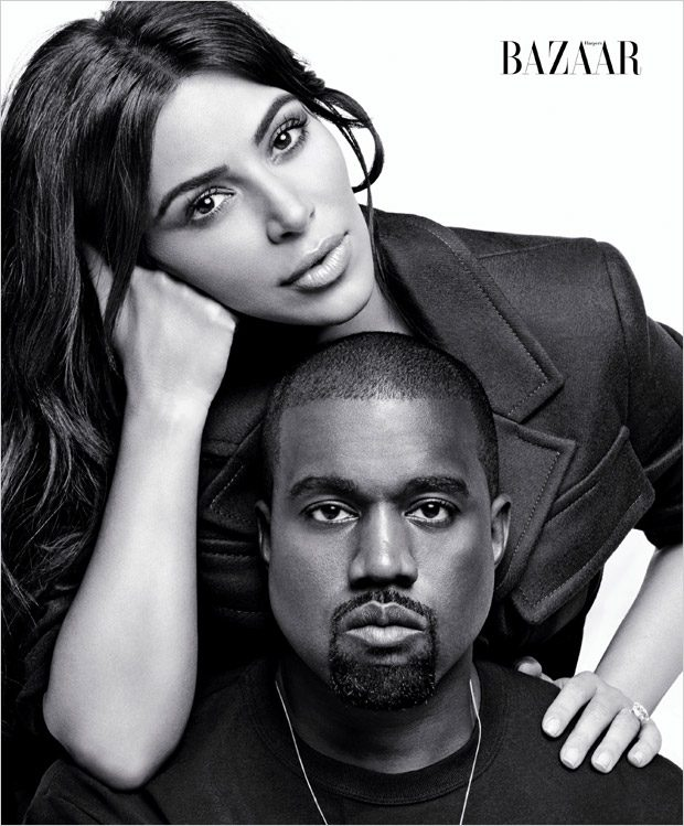 Ким Кардашьян и Канье Уэст в Harper's Bazaar