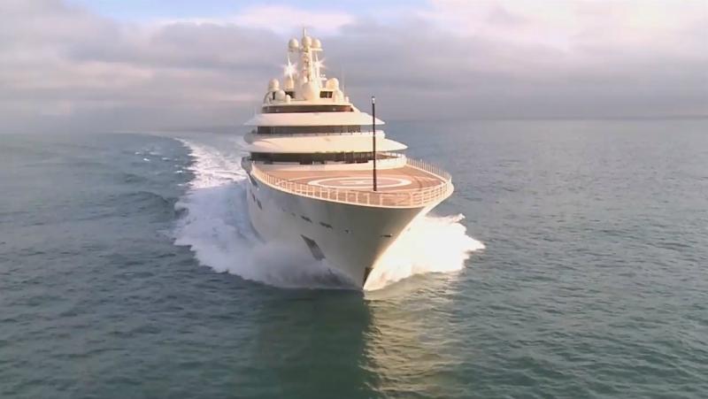 Яхта Алишера Усманова Dilbar – самая вместительная яхта в мире
