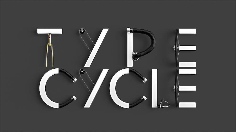 The Bicycle Alphabet Typography