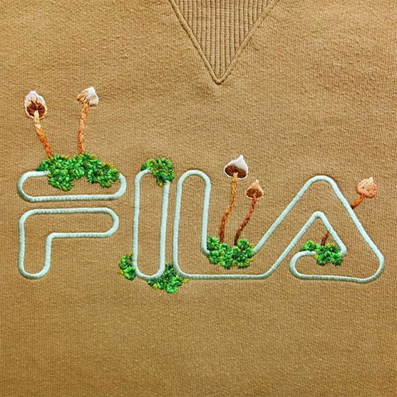 Embroidered Sportswear Logos by James Merry