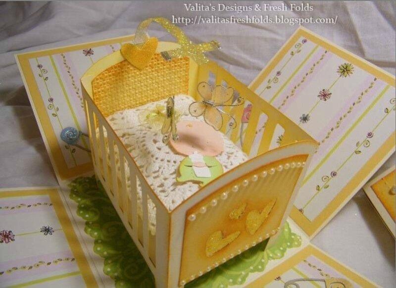 Бумажные детские кроватки