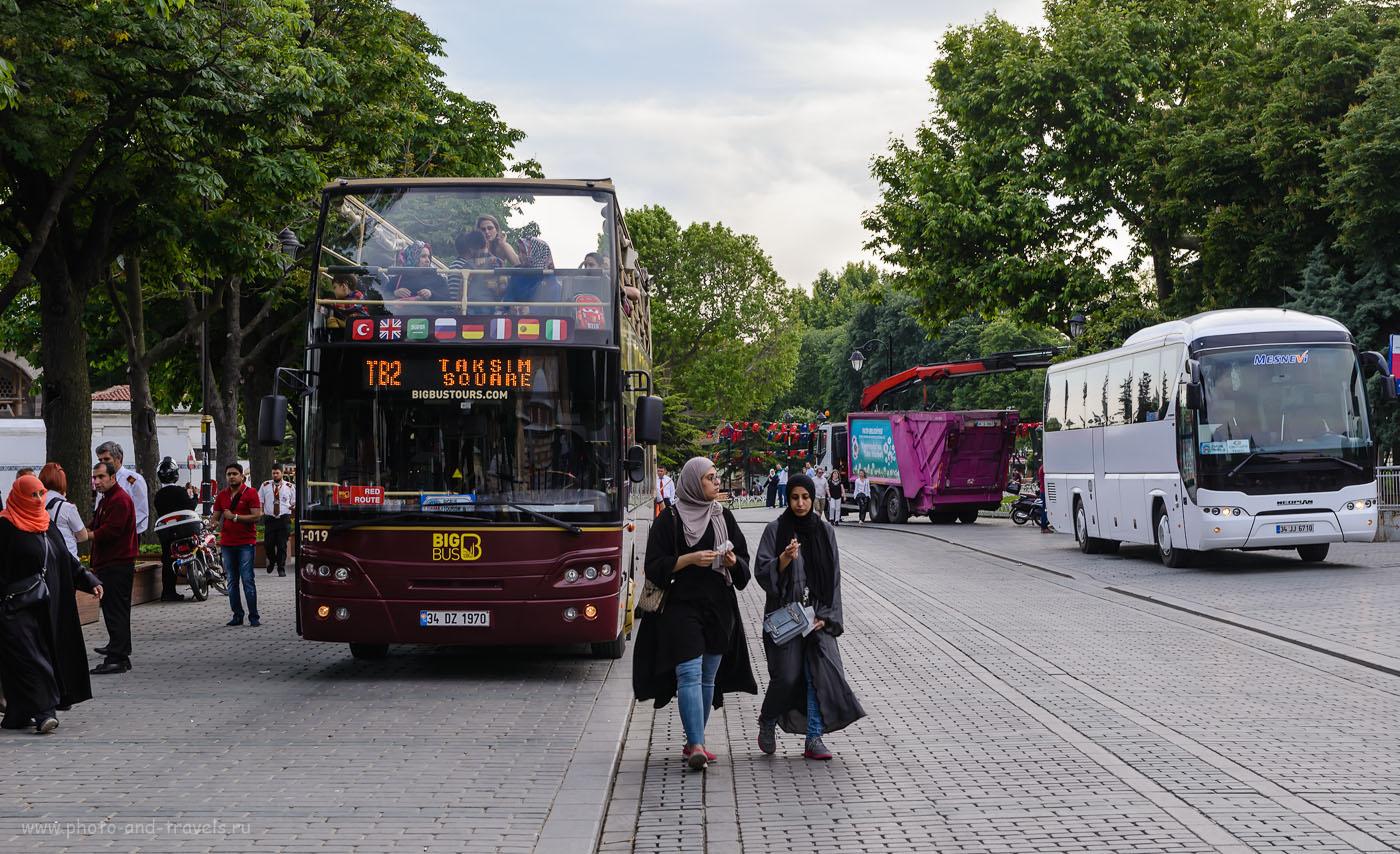 Фото 6. Туристические автобусы рядом с площадью Султанахмет в Стамбуле. Отзывы о самостоятельных экскурсиях. Поездка в Турцию в мае. 1/80, 8.0, -1.0, 125, 56.