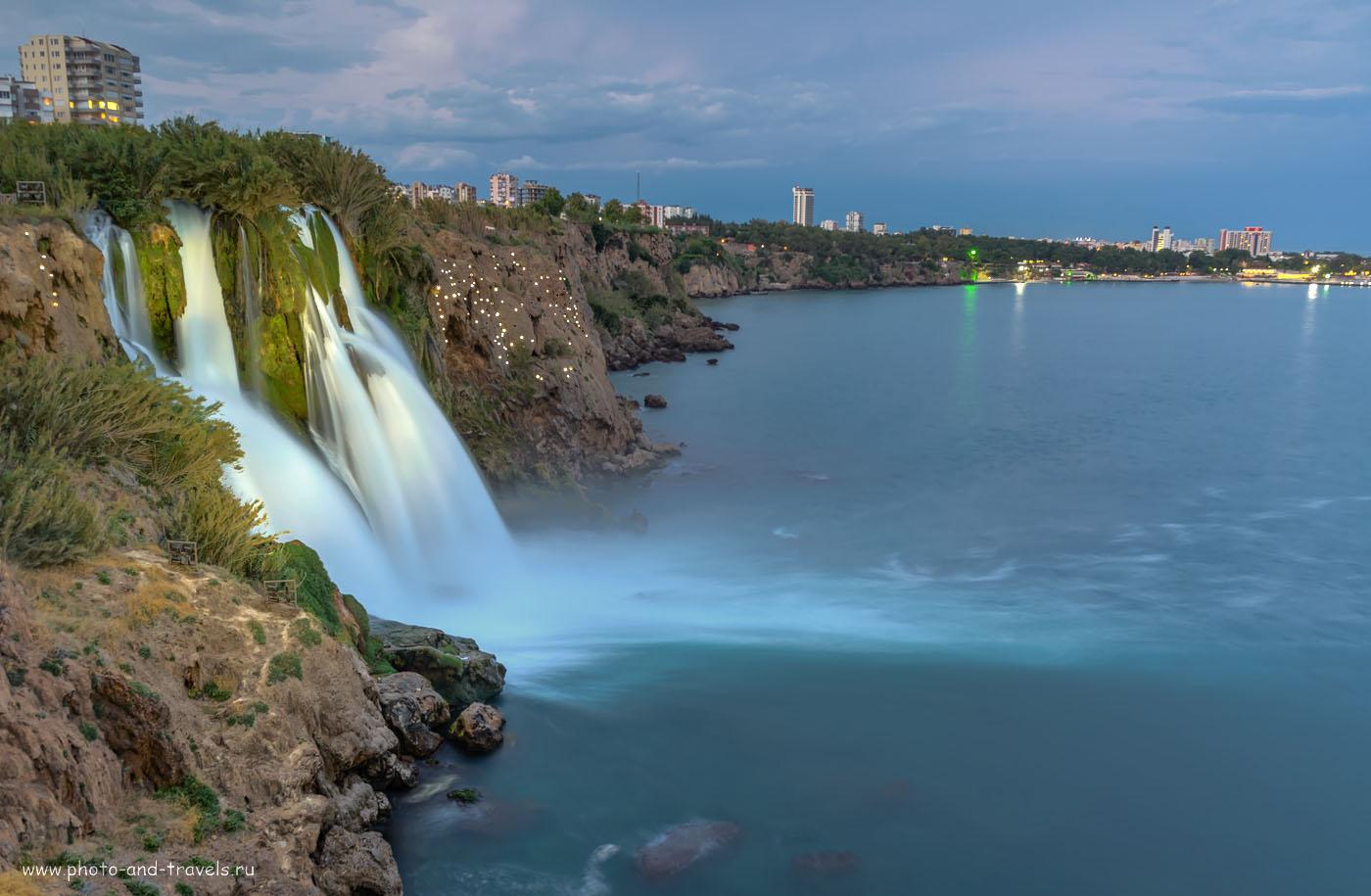 Фото 10. Нижний Дюденский водопад (Düden Şelalesi) – одна из визитных карточек Анталии. Отзывы туристов об отдыхе в Турции в мае. HDR из 3-х кадров, снятых со штатива Sirui T-2204X с головкой G20KX на полнокадровую камеру Nikon D610 и репортажный зум Nikon 24-70mm f/2.8.