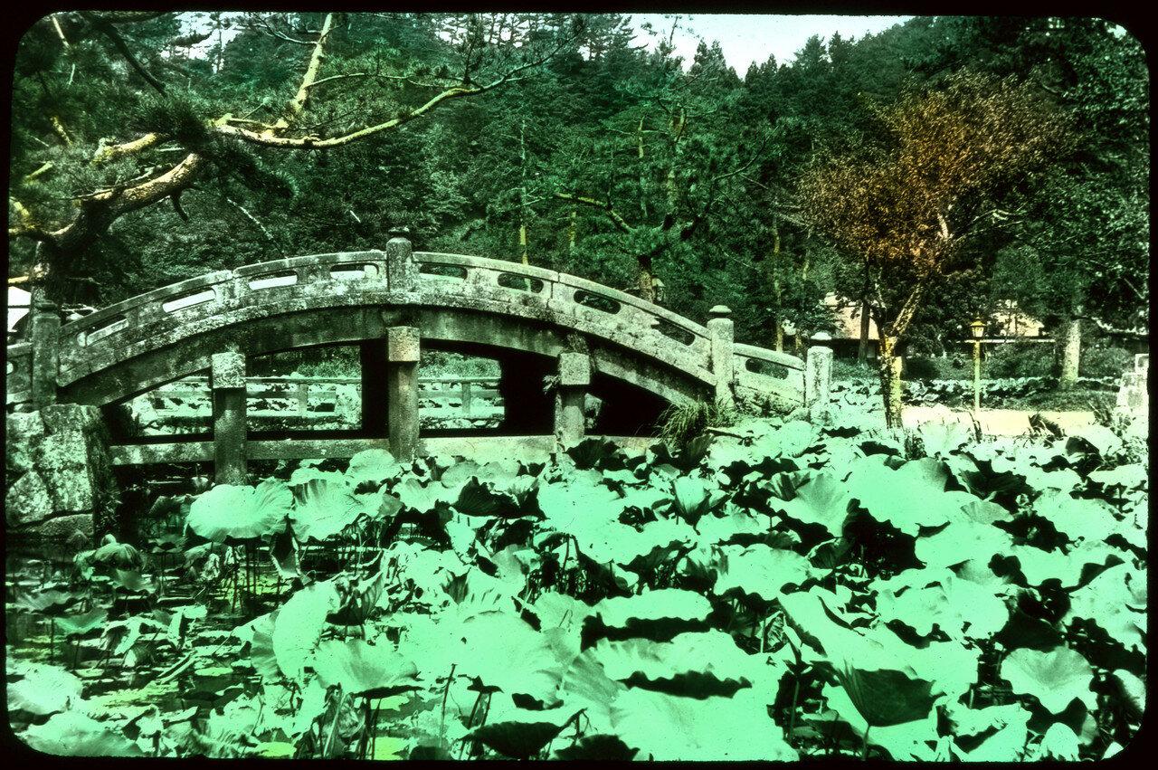 Изогнутый каменный мост в сельской местности. 1910
