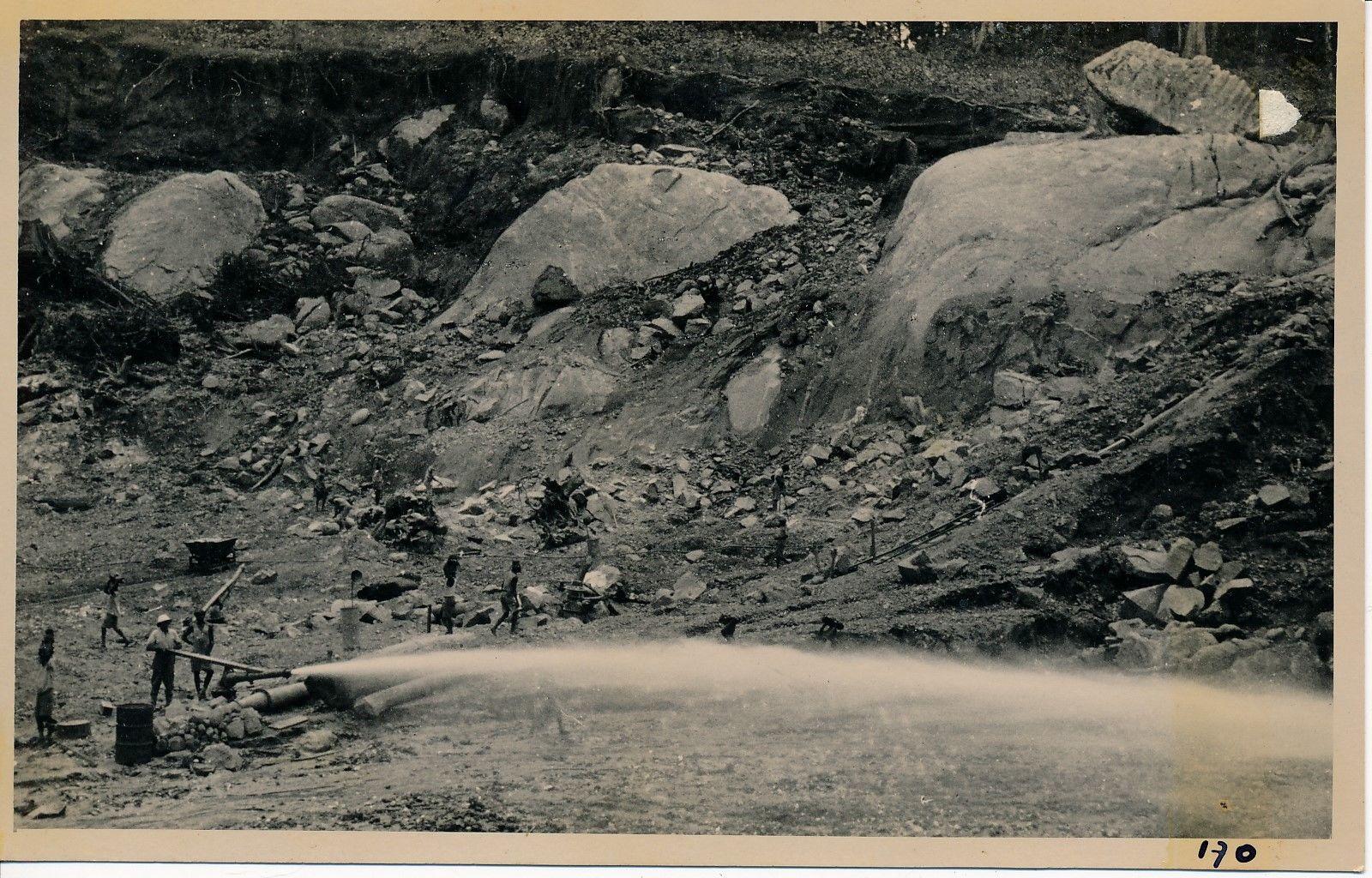1935. Карьер 102 км. Вид обнаруженных скальных пород