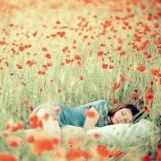 Девушка спит