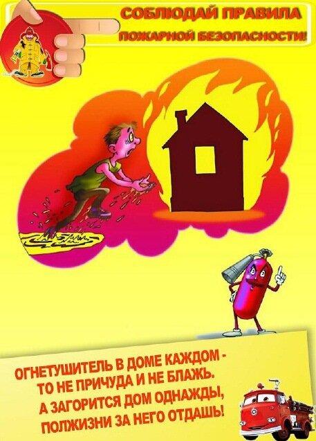 Правила пожарной безопасности для детей.