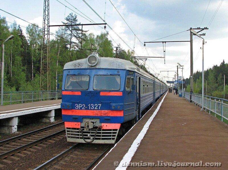 Электропоезд ЭР2-1327, о.п.Циолковская, перегон Чкаловская - Монино