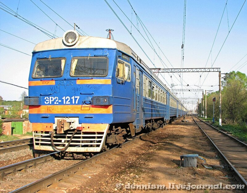 Электропоезд ЭР2-1217, перегон Чкаловская - Монино