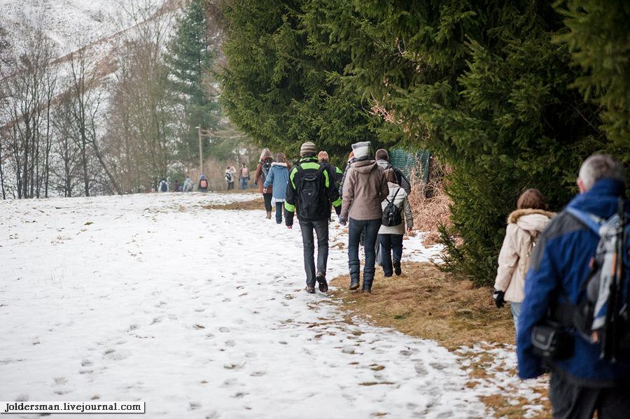 группа туристов в немецких горах