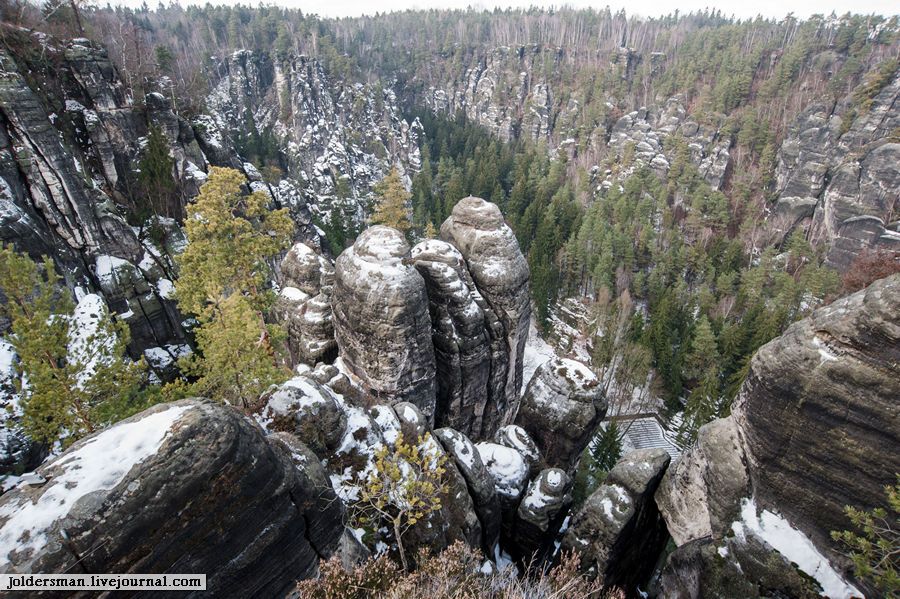 Bastei  горы немецкий курорт