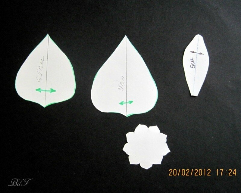 МК листика из кожи