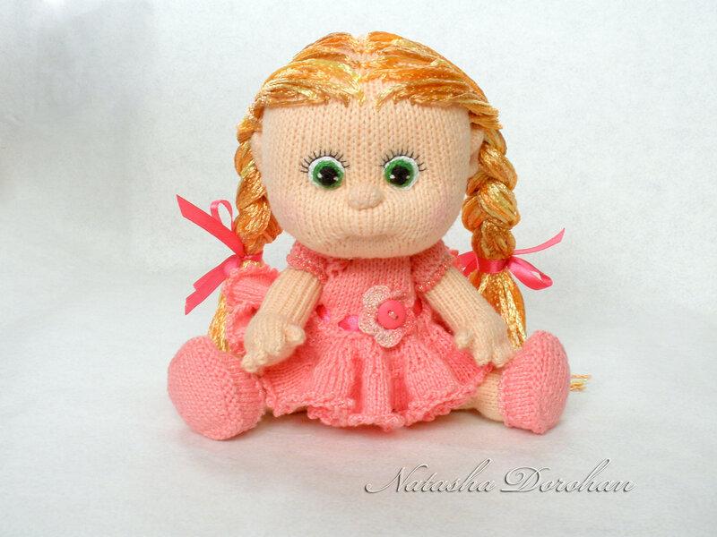 Пупс вязанная кукла