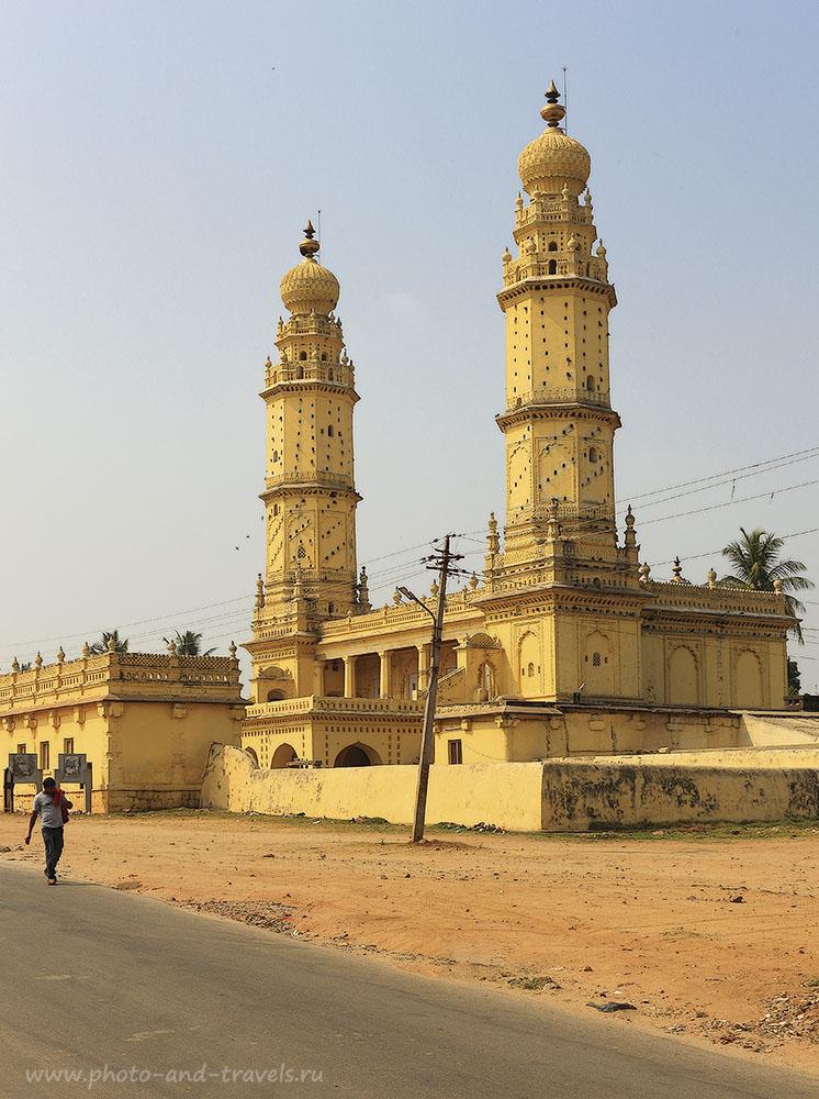 Фото10. Экскурсии в Индии. Мечеть Джама Масджид в городе Шрирангапатнам, штат Карнатака. 1/60, 14.0, 100, 40
