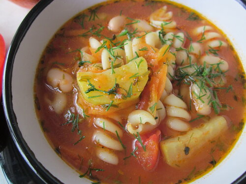 Суп Минестроне вегетарианский