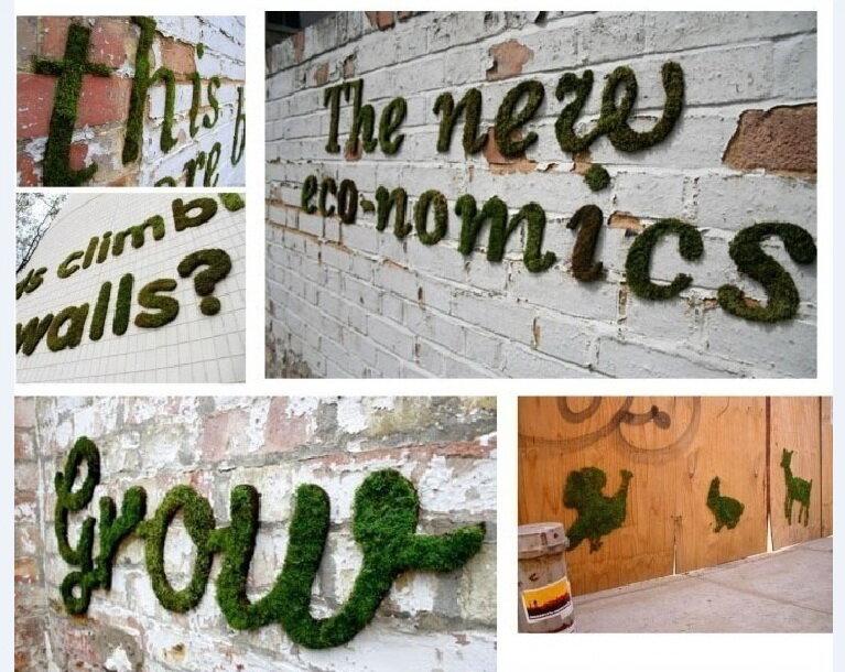 графити из мха