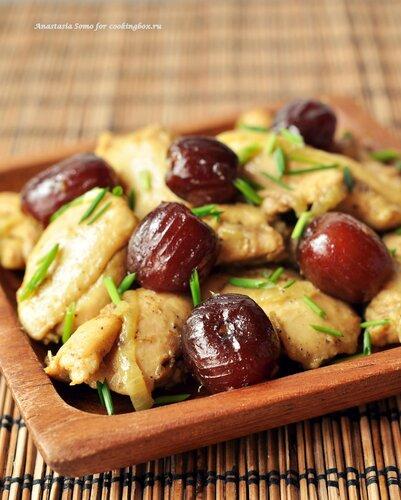 Курица с финиками по-мароккански