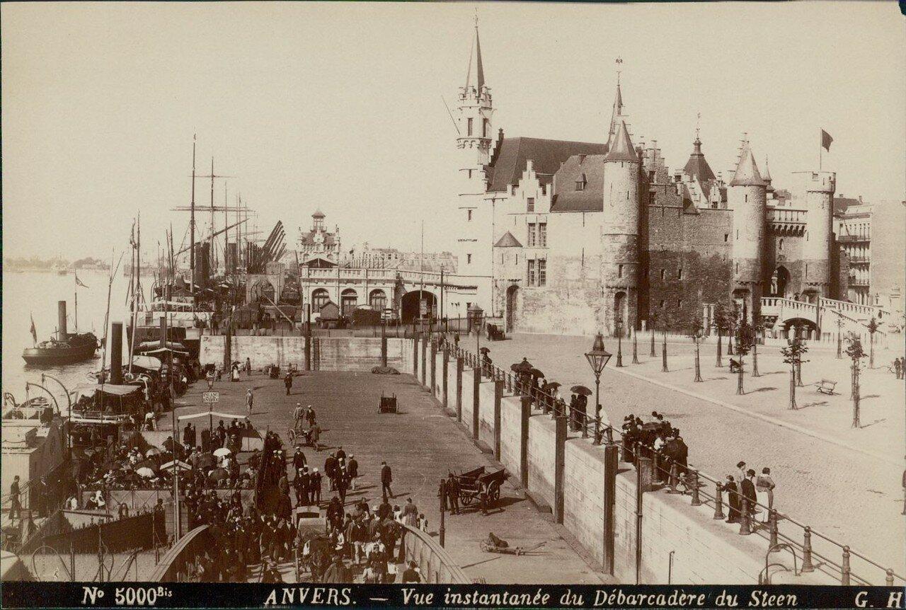 1875. Отдаленный вид на дебаркадер и замок Стен
