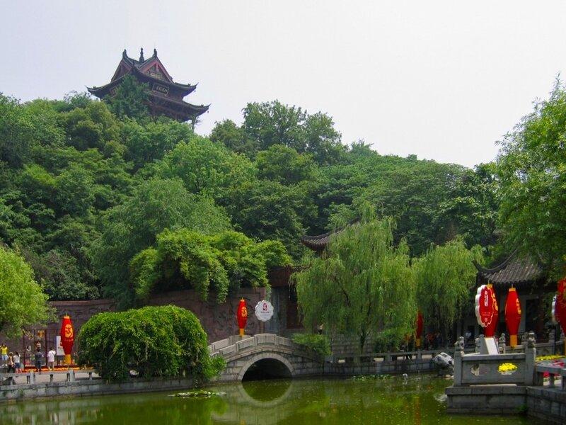Гусиный пруд и парк на горе Шэшань