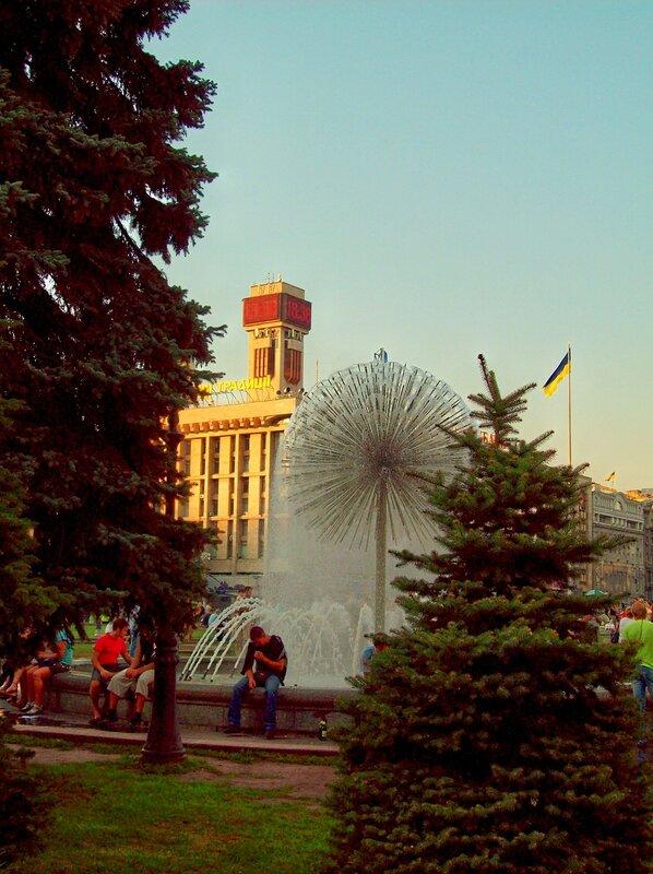 Фонтан Шарик на Майдане Незалежности