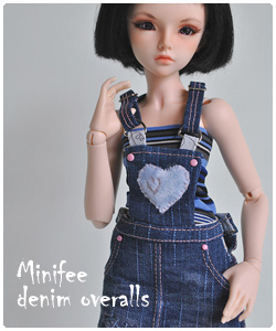 Minifee denim overalls