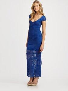 Сокровища синего моря - платье и кофточка крючком