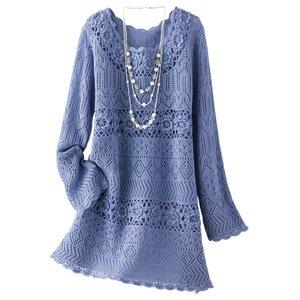 Ажурный розарий - романтичное платье спицами и крючком. Наши воплощения