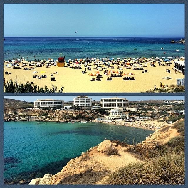 Хм... :( Загнали меня на пляж, можно подумать мне нечем на #malta заняться