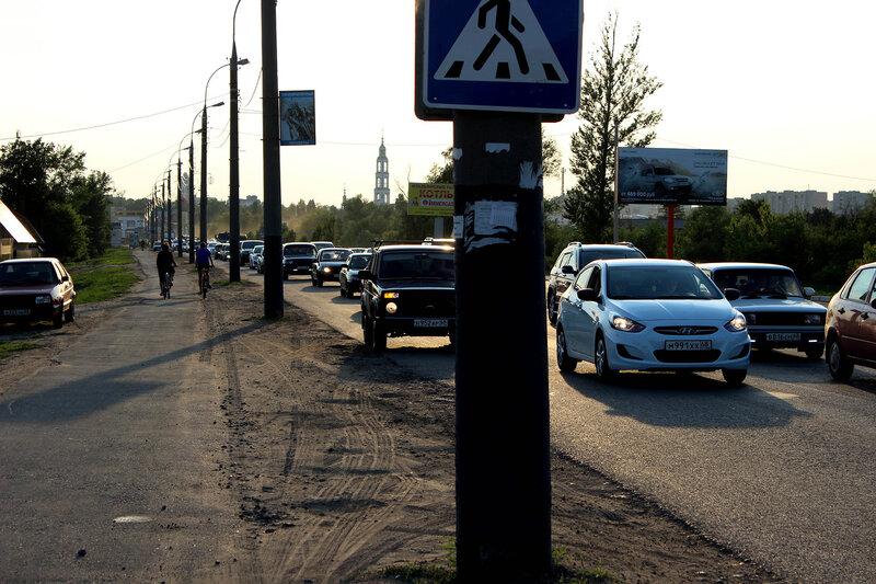 Пробка на Рассказовском шоссе