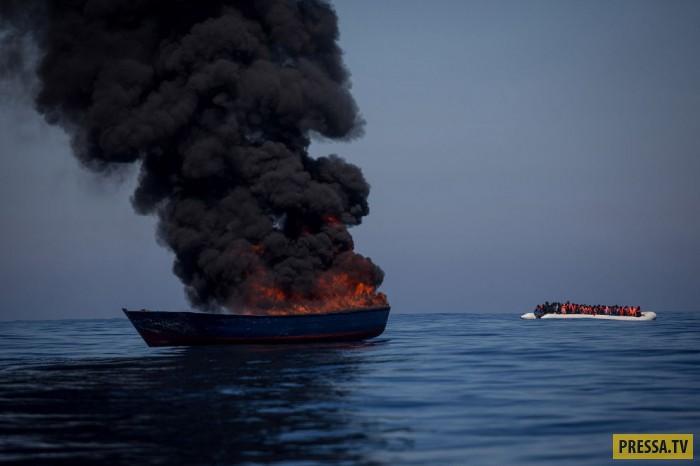 Спасатели и спасенные нелегальные мигранты
