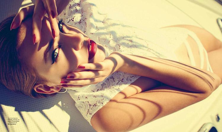 Барбара Палвин на обложке Harper's Bazaar Spain 2014