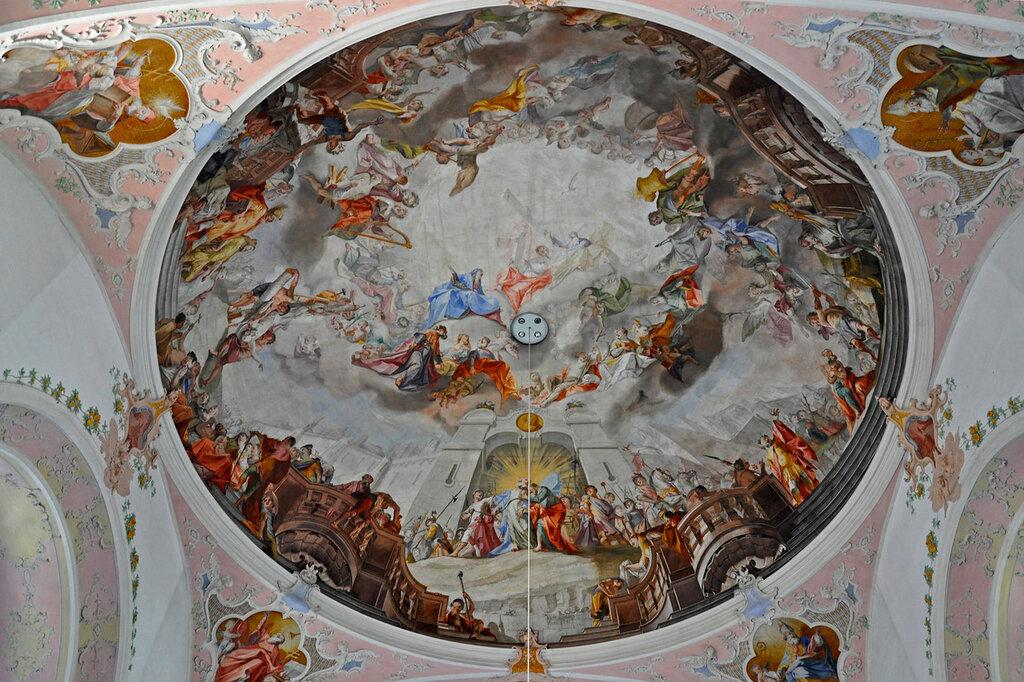 Обераммергау. Церковь Св. Петра и Павла. Плафон.