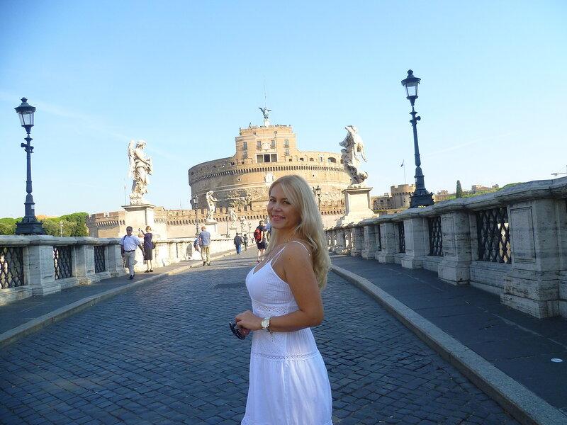 Рим, мост Святого Ангела (Rome, Sant'Angelo)