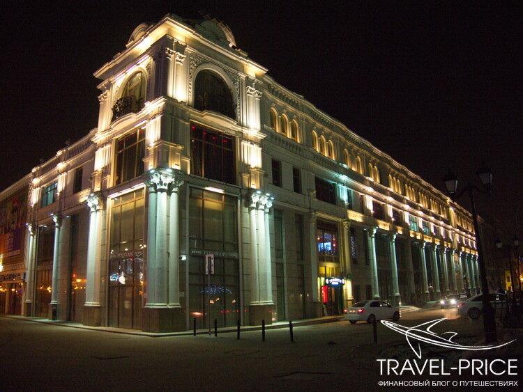 ночная Казань: улица Баумана