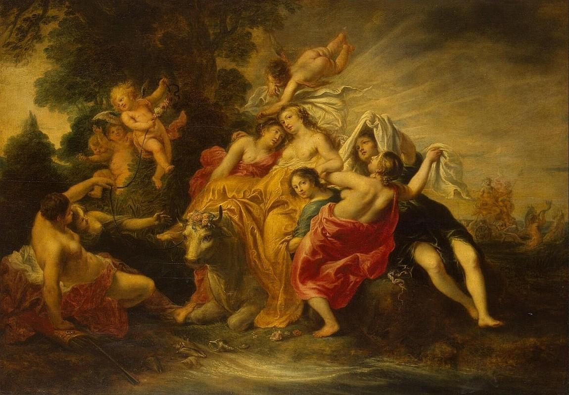 Корнелис Схют, Похищение Европы, 1640, 61х84 см, Эрмитаж