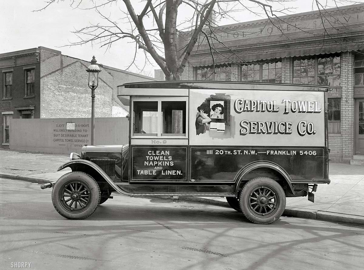 Грузовые автомобили начала 20-го века на снимках американских фотографов (33)