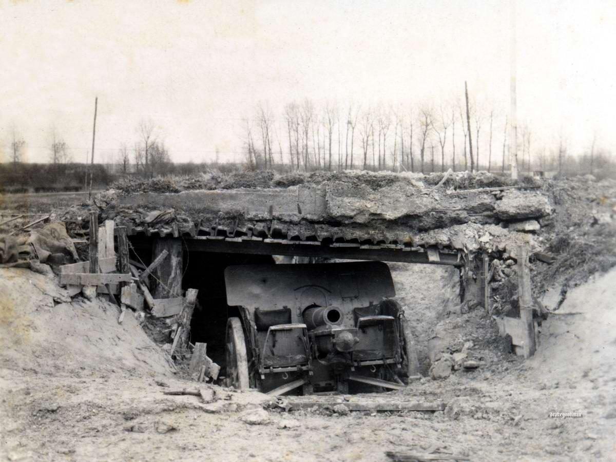 Полевая гаубица калибра 10,5 см на боевой позиции (1916 год)