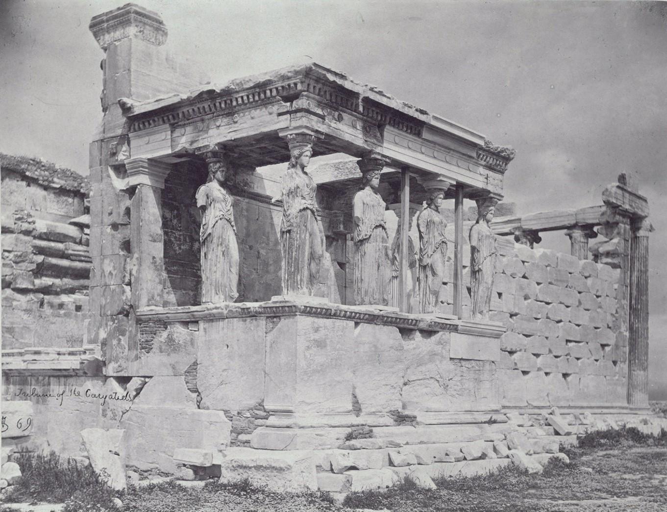 Акрополь. Крыльцо Эрехтейона с кариатидами