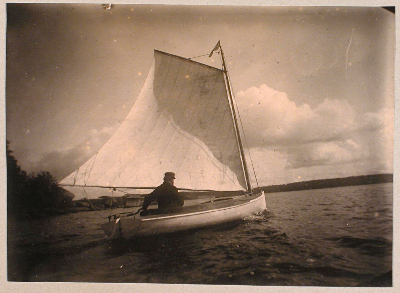 58. Яхта в акватории Сайменского канала