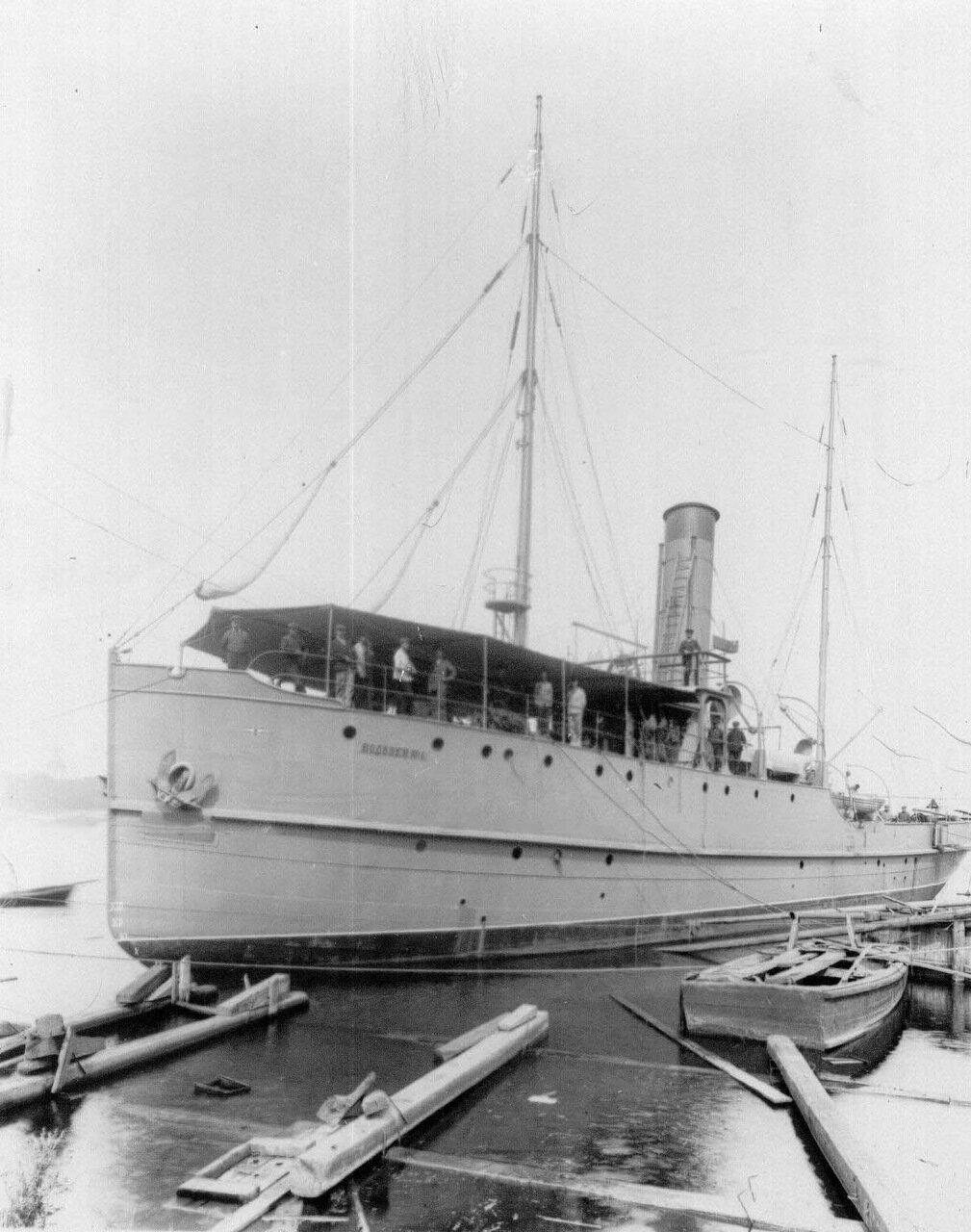 24. Пароход Водолей № 4, построенный на Охтенском судостроительном и механическом заводе. 1911