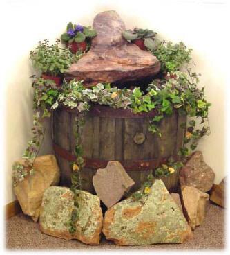 декорирование зеленый уголок в интерьере