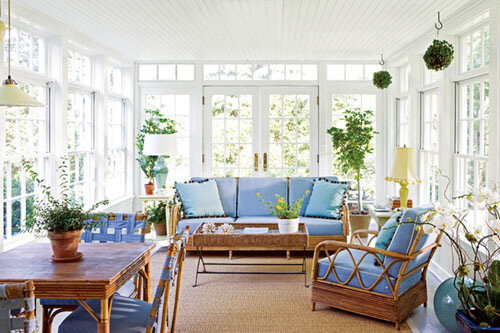 бело-голубой интерьер декор