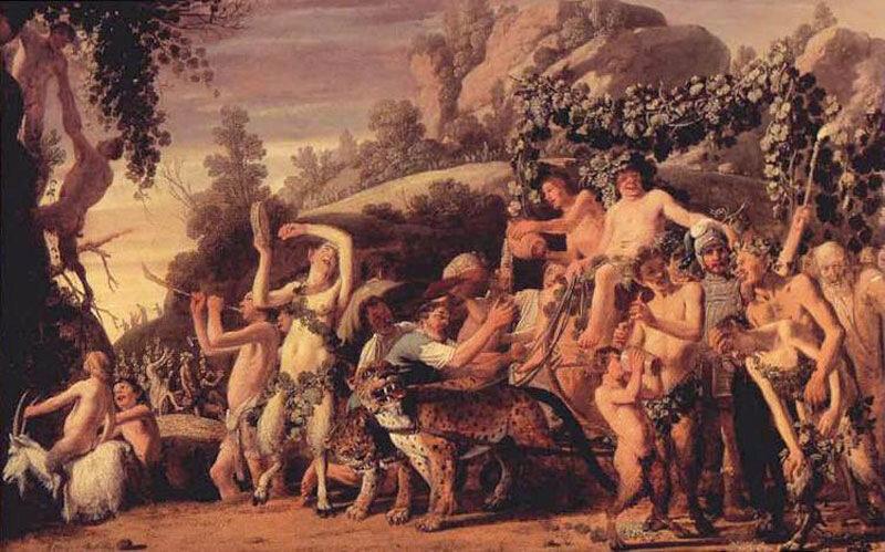 Клаес Корнелис Муйерт, 1624 г.Гаага, Маурицхейс, Триумф Вакха