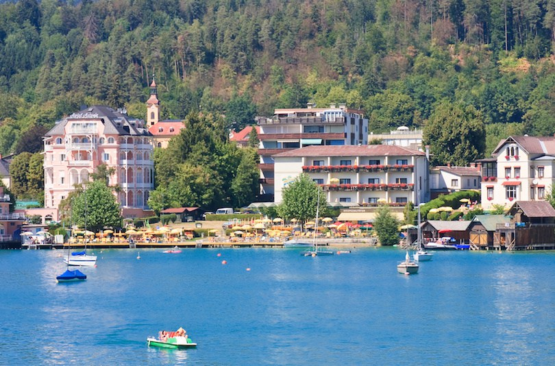 Resort Portschach.Lake Worthersee. Austria