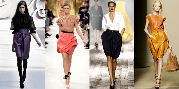 юбка тюльпан, с чем носить юбку тюльпан