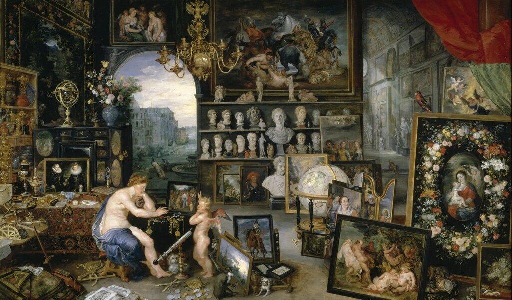 Аллегория пяти чувств. Зрение (совместно с Яном Брейгелем Старшим) (1617) (Мадрид, Прадо).jpg